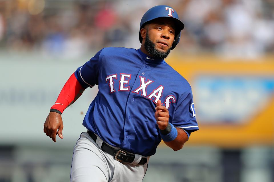 Elvis Andrus #1 of the Texas Rangers