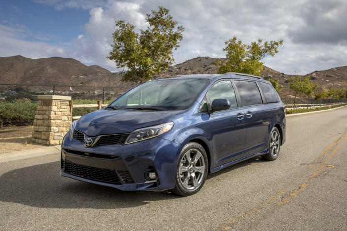 This undated photo provided by Toyota shows the Toyota Sienna, the only minivan available with all-wheel drive. Sure, there are some cargo or passenger vans that offer all-wheel-drive options, but in the minivan class, this Sienna stands alone. (Toyota Motor Sales U.S.A. via AP)