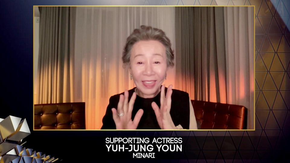 Yuh-Jung Youn receives Supporting Actressvia REUTERS