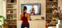 """<p><strong>Peloton</strong></p><p>onepeloton.com</p><p><strong>$866.00</strong></p><p><a href=""""https://www.onepeloton.com/app"""" rel=""""nofollow noopener"""" target=""""_blank"""" data-ylk=""""slk:Shop Now"""" class=""""link rapid-noclick-resp"""">Shop Now</a></p><p>Sassos is a fan of the Peleton Digital app, which features thousands of live and on-demand classes ranging from barre, to resistance bands training, to outdoor guided runs. """"The app is an immersive experience that <strong>keeps track of metrics and awards you with badges the more consistent you are</strong>,"""" she says. Plus, you don't have to own a Peleton bike to use it. </p>"""