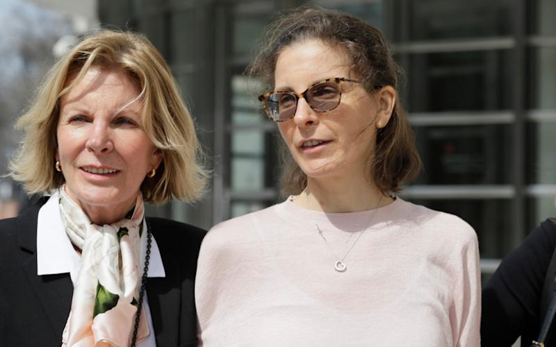 Clare Bronfman (right) pleaded guilty on two counts - AP