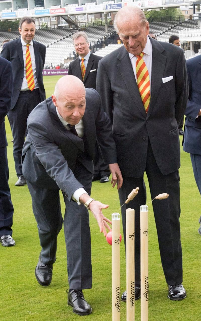 Prince Philip, Duke of Edinburgh opens the new Warner Stand at Lord's Cricket Ground on May 3 - Credit: Arthur Edwards - WPA Pool /Getty Images