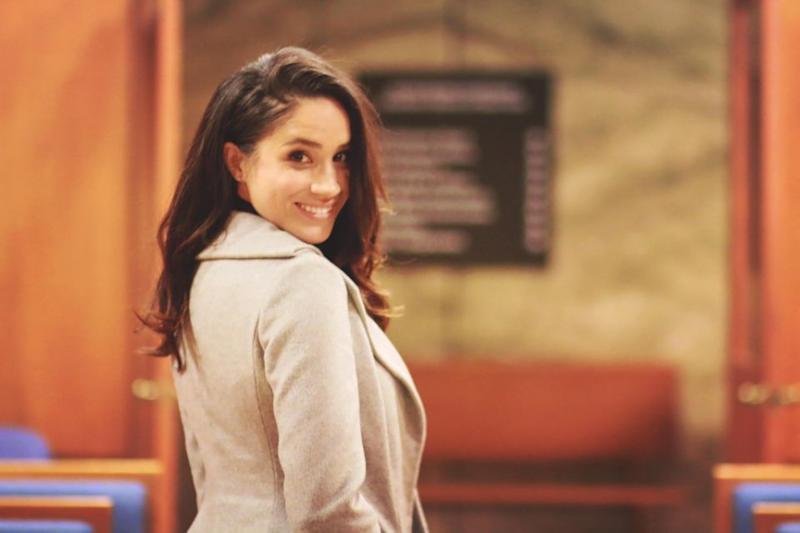 Eljay took this photo of Meghan on the set of Suits. Source: Supplied exclusively to Yahoo7 Be by Eljay Aguillo.