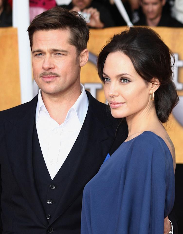 "<a href=""http://movies.yahoo.com/movie/contributor/1800018965"">Brad Pitt</a> and <a href=""http://movies.yahoo.com/movie/contributor/1800019275"">Angelina Jolie</a> at the 15th Annual Screen Actors Guild Awards in Los Angeles - 01/25/2009"