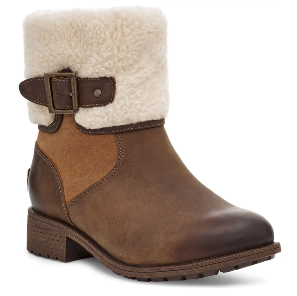 UGG Elings Waterproof Wool Boot in Chestnut Leather
