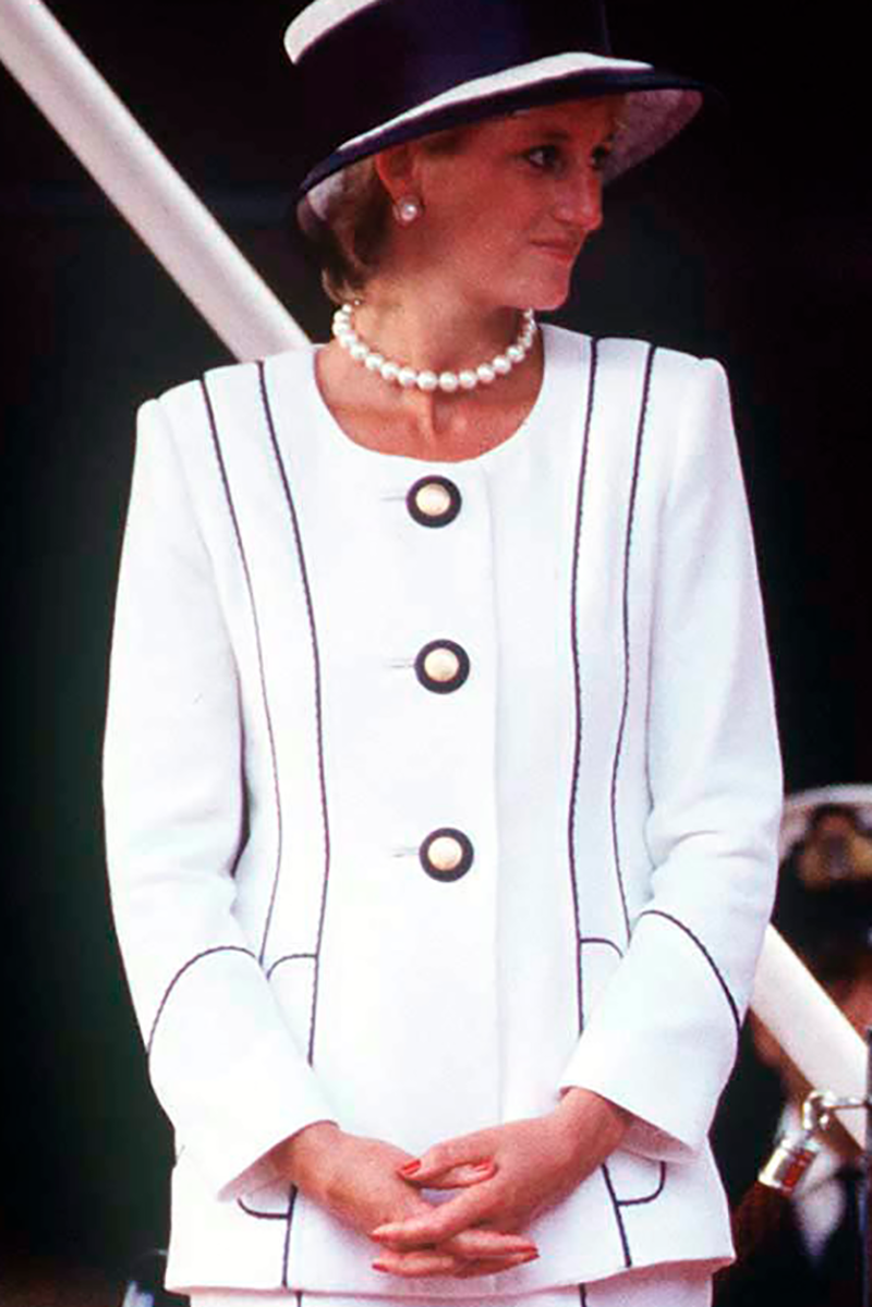 <p>Diana's monochrome look for 1995 Parade Of Veterans on V J Day is one of her most iconic for a reason - the Princess looks nothing less than flawless.</p>
