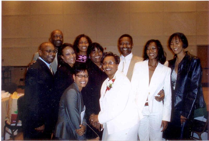 Dukes is pictured here with her many siblings.