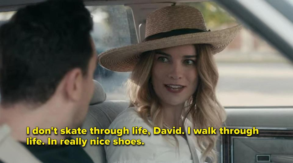 Alexis says she doesn't skate through life but walks through it in really nice shoes
