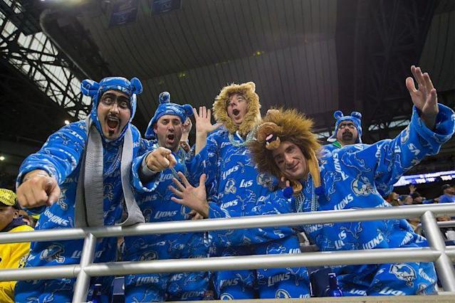 The enthusiasm of these Lions fans is not misplaced. (Photo by Dave Reginek/Getty Images)