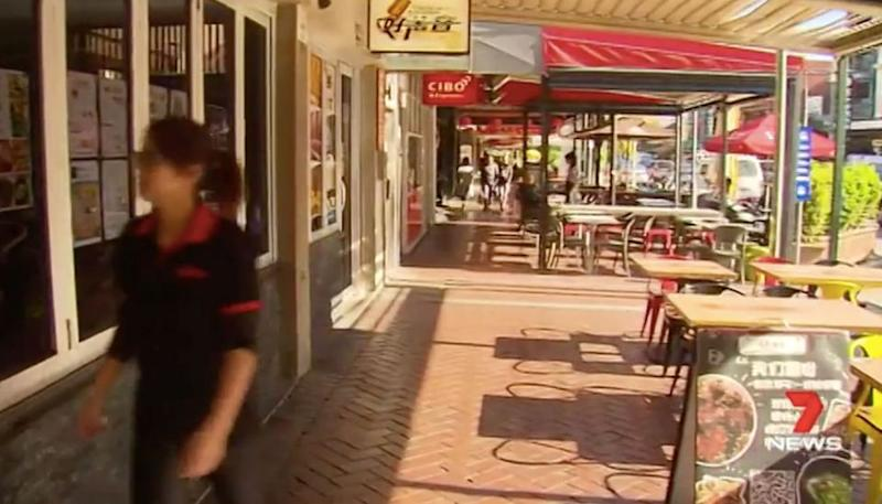 It's alleged Quan paid half the money owned and then did a runner down Gouger Street. Source: 7 News