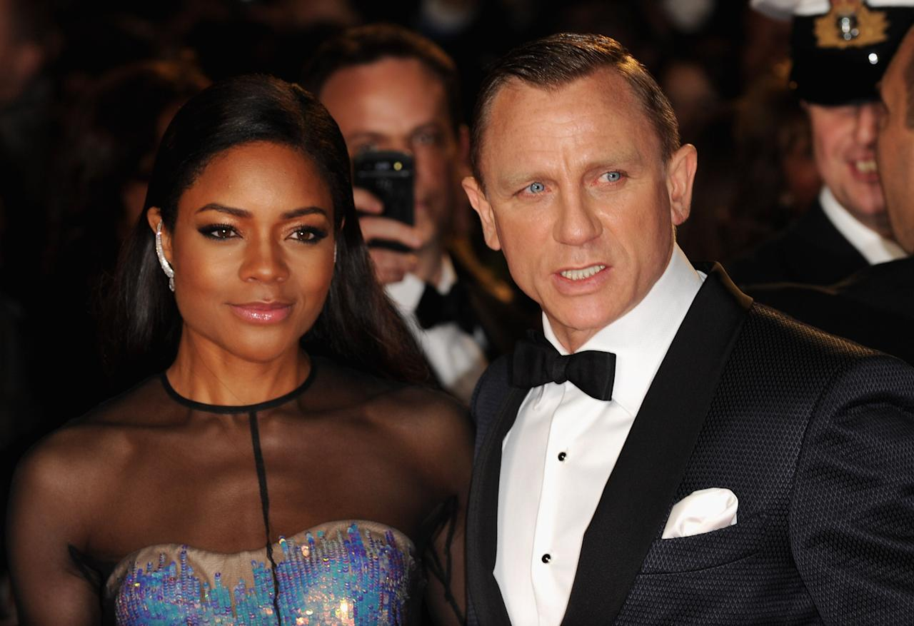 LONDON, ENGLAND - OCTOBER 23:  Naomie Harris and Daniel Craig attend the Royal World Premiere of 'Skyfall' at the Royal Albert Hall on October 23, 2012 in London, England.  (Photo by Eamonn McCormack/Getty Images)
