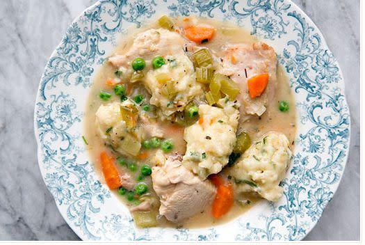 "<strong>Get the <a href=""http://www.simplyrecipes.com/recipes/chicken_and_dumplings/"" rel=""nofollow noopener"" target=""_blank"" data-ylk=""slk:Chicken and Dumplings recipe from Simply Recipes"" class=""link rapid-noclick-resp"">Chicken and Dumplings recipe from Simply Recipes</a></strong>"