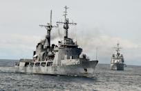 Foreign naval forces have a limited presence in the Gulf of Guinea