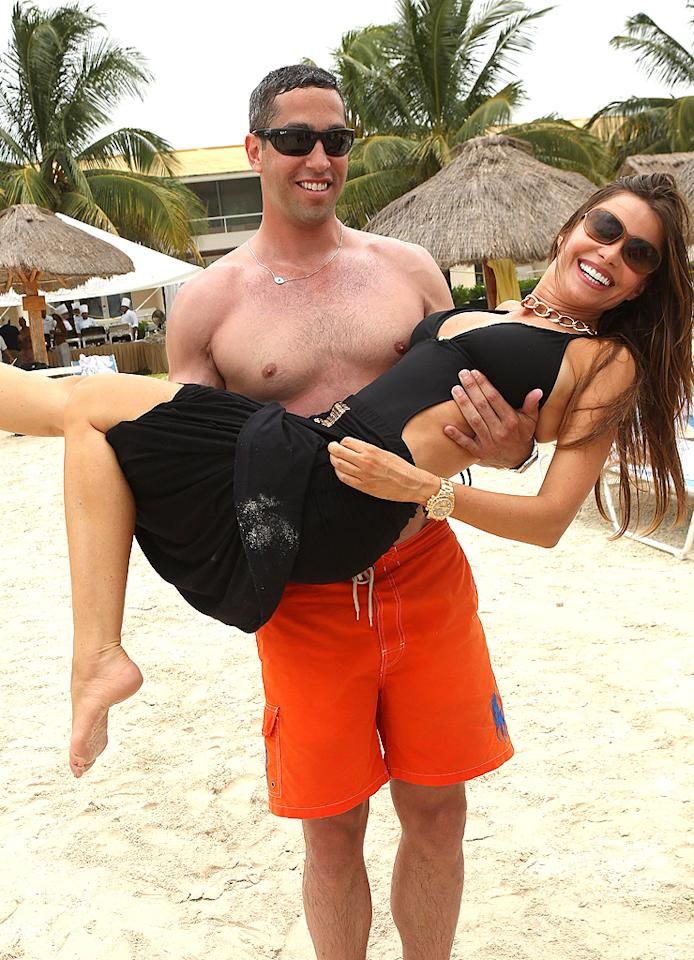 "While Sofia Vergara and politician Nick Loeb reportedly broke up earlier this year, the summer not only brought them back together, but prompted them to take the next big step. When the ""Modern Family"" star brought 100 family and friends (yes, we said 100) to the resort town of Cozumel, Mexico, to celebrate her 40th birthday, she got a big old engagement ring out of the trip too when Loeb popped the question. (7/9/2012)"
