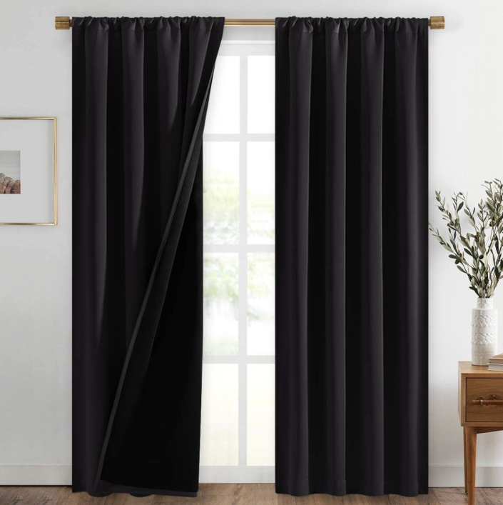 These 100 percent blackout curtains are perfect for the bedroom. (Photo: Amazon)