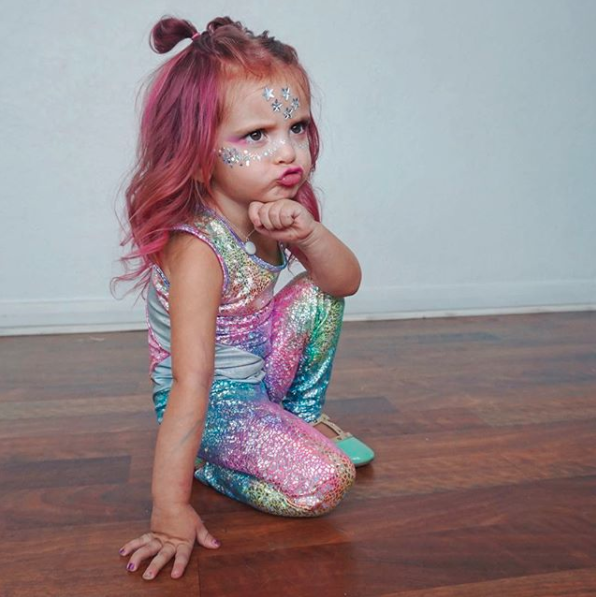 Charity was slammed earlier this year for dying her daughter's hair pink. Photo: Instagram