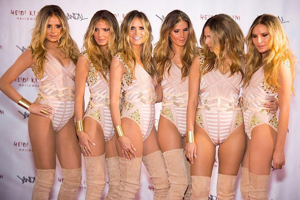 <p>Heidi Klum and her supermodel doppelgängers left onlookers wondering which one was the real deal!</p>
