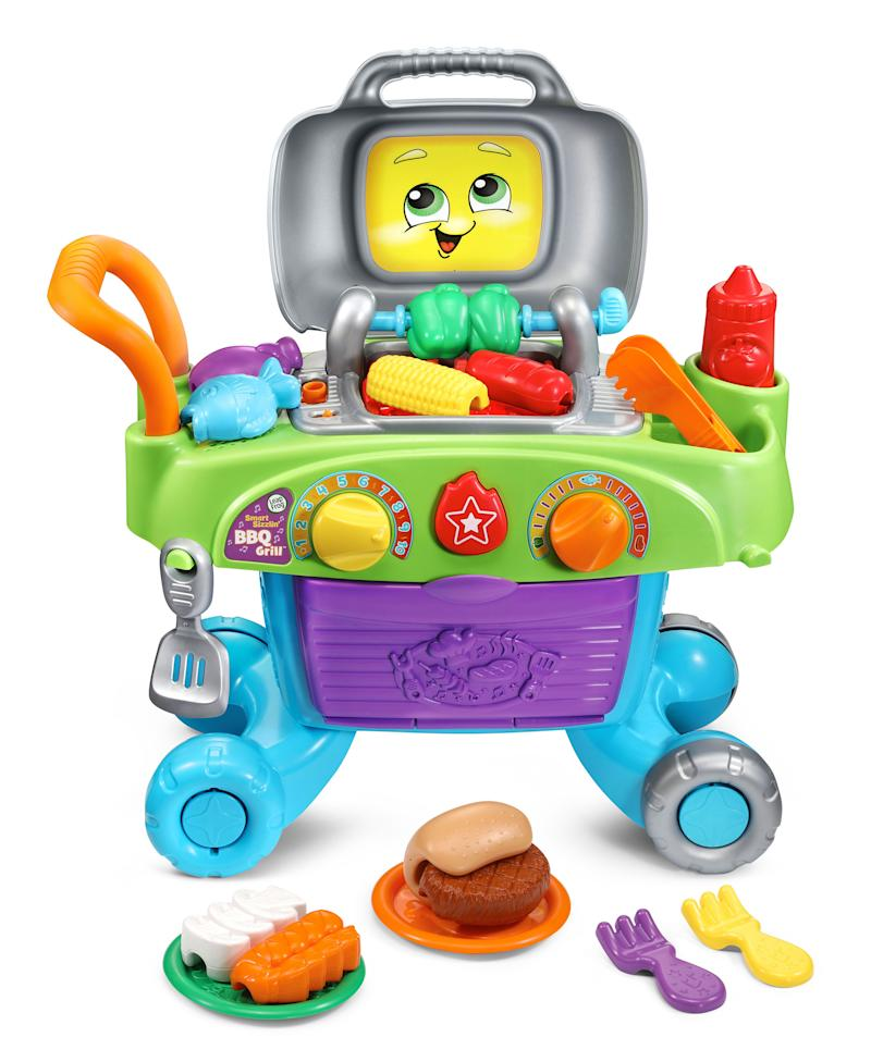LeapFrog® expands its infant and preschool collection with new learning toys, such as the Smart Sizzlin' BBQ Grill™.