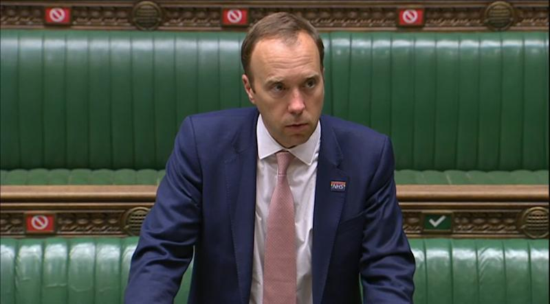 Health Secretary Matt Hancock makes a statement on Covid-19 in the House of Commons, London, confirming local lockdown restrictions will be introduced in Northumberland, North Tyneside, South Tyneside, Newcastle-upon-Tyne, Gateshead, Sunderland and County Durham.