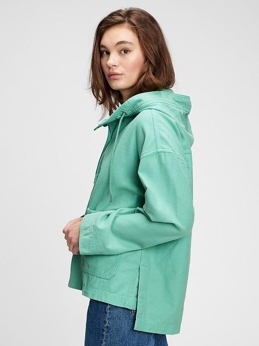<p>This minty green <span>Gap Cotton Anorak</span> ($88, originally $118) is so fresh . . . and so is the rose pink option. </p>