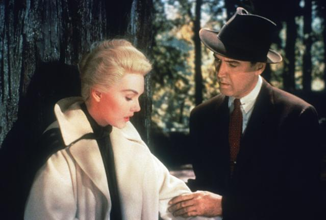 Novak starred opposite Jimmy Stewart in 1958's <em>Vertigo</em>. (Photo: Archive Photos/Getty Images)