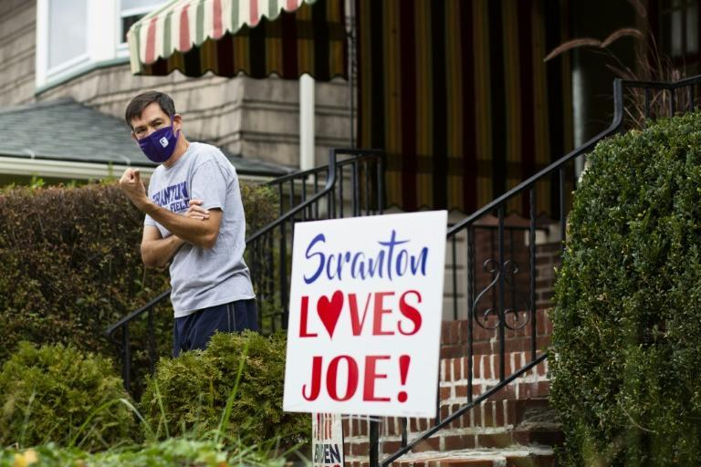 Bill Burke, a resident on the street where Joe Biden lived until he was 10, is a Democrat supporter wary of a repeat of the party's 2016 loss