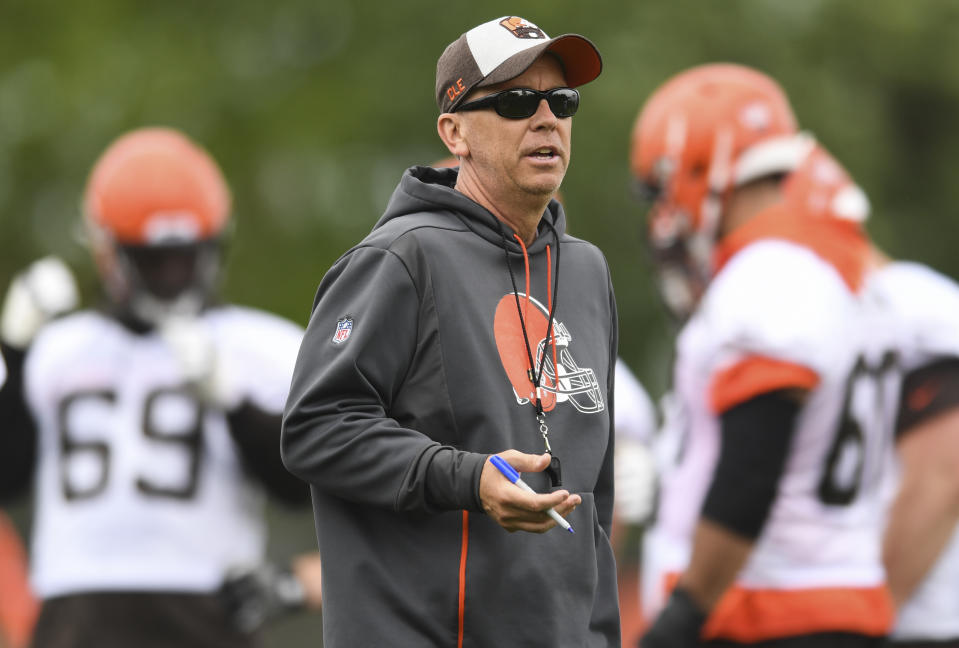 It's been a tough season for everyone on the Browns, offensive coordinator Todd Monken included. (Photo by: 2019 Diamond Images/Getty Images)