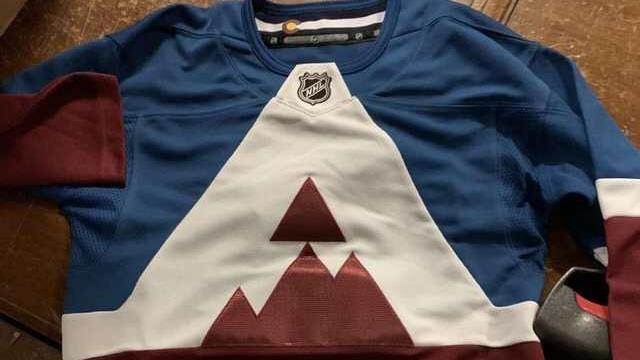 The Stadium Series is known for weird team jerseys and the Colorado Avalanche are no exception. (Twitter/@jcbrolley_design)