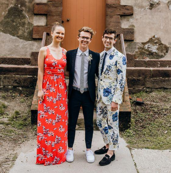 My daughter, Beth, and sons Luke and Will at Luke's wedding (Photo: Courtesy of Bird and Rose Photography)