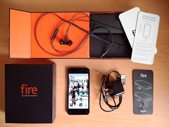 An unboxed Amazon Fire Phone. Source: Romazur/Wikipedia Commons