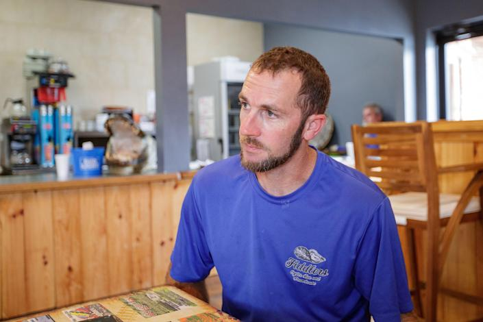 Randall Martina, owner of Fiddler's Oyster Bar & Steamhouse located in Blountstown, Florida, shares his views on the COVID-19 vaccine and his experiences of living through a pandemic Wednesday, July 21, 2021.