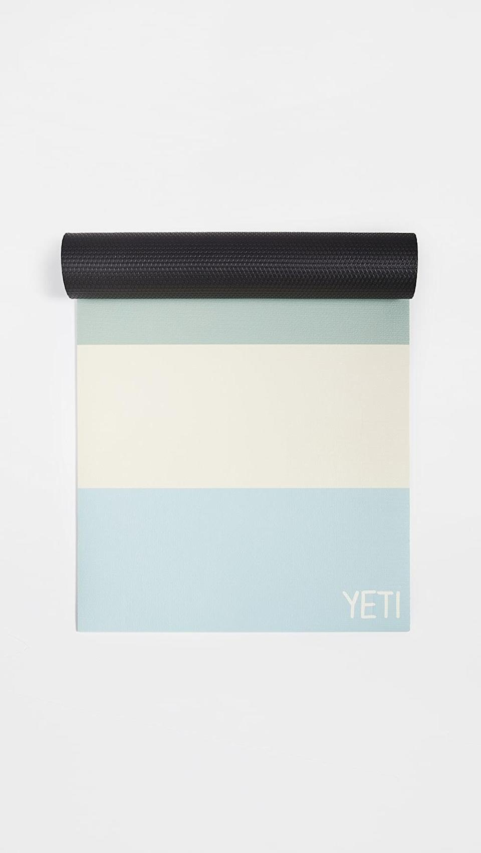 <p>This <span>Yeti Yoga The Malibu Yoga Mat</span> ($60) is a high quality mat made to practice your crow pose.</p>