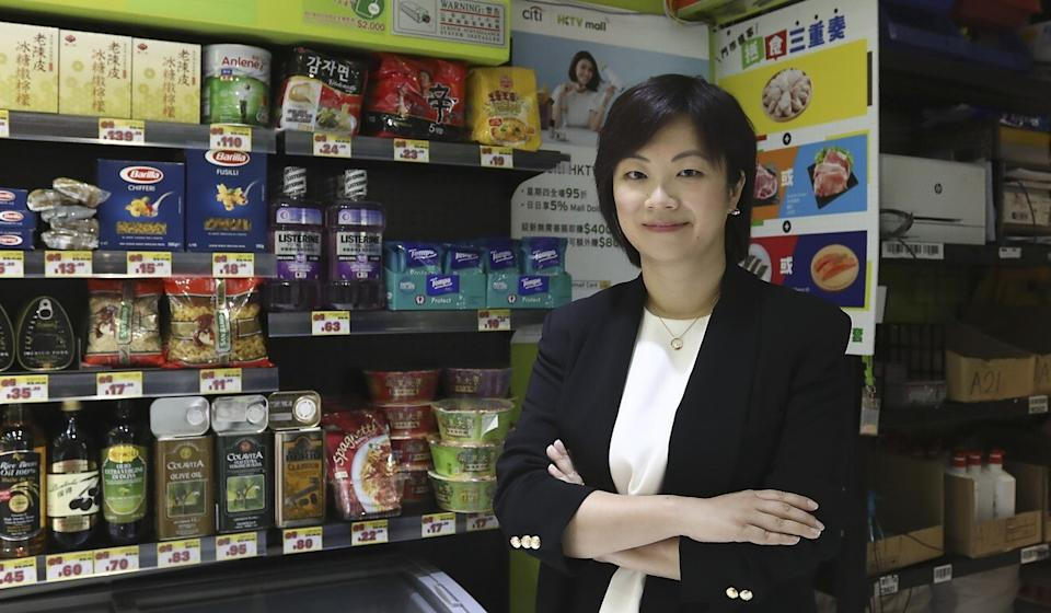 Jelly Zhou, CEO (Hong Kong) at HKTVmall, says the platform's October sales were better than in September even though the number of Covid-19 infections declined. Photo: K. Y. Cheng