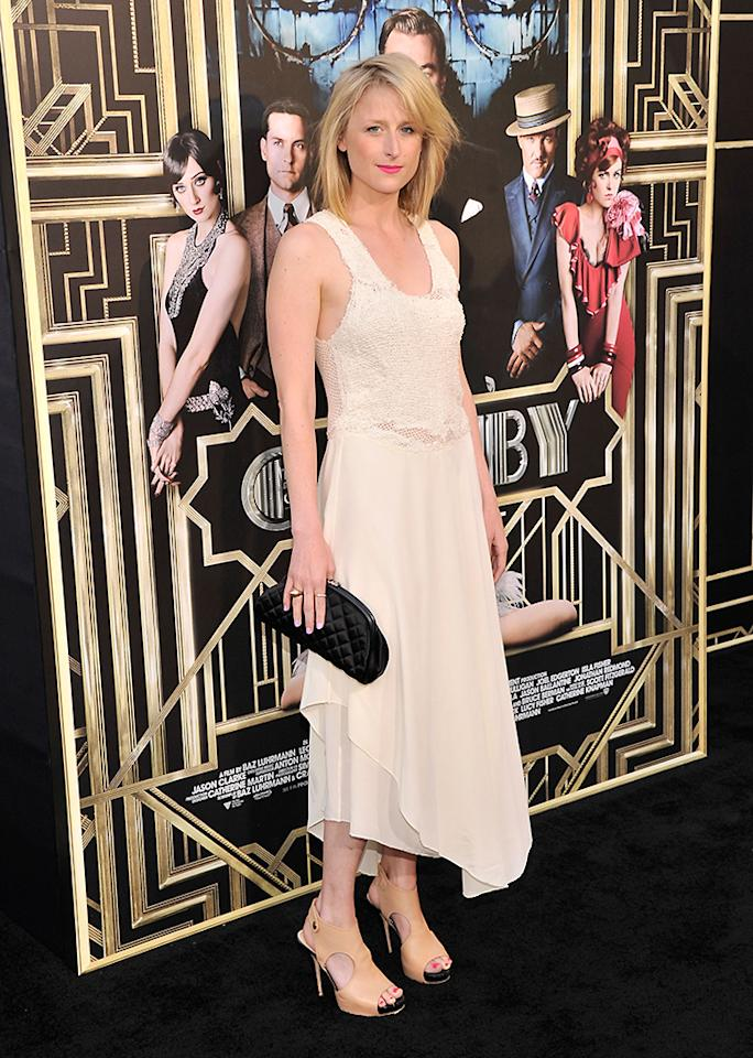 """Mamie Gummer attends the """"The Great Gatsby"""" world premiere at Avery Fisher Hall at Lincoln Center for the Performing Arts on May 1, 2013 in New York City.  (Photo by Stephen Lovekin/Getty Images)"""