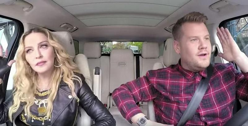 Madonna is certainly not afraid to kiss and tell, revealing to James Coren during a Carpool Karaoke session that she once hooked up with late singer Michael Jackson. Source: CBS