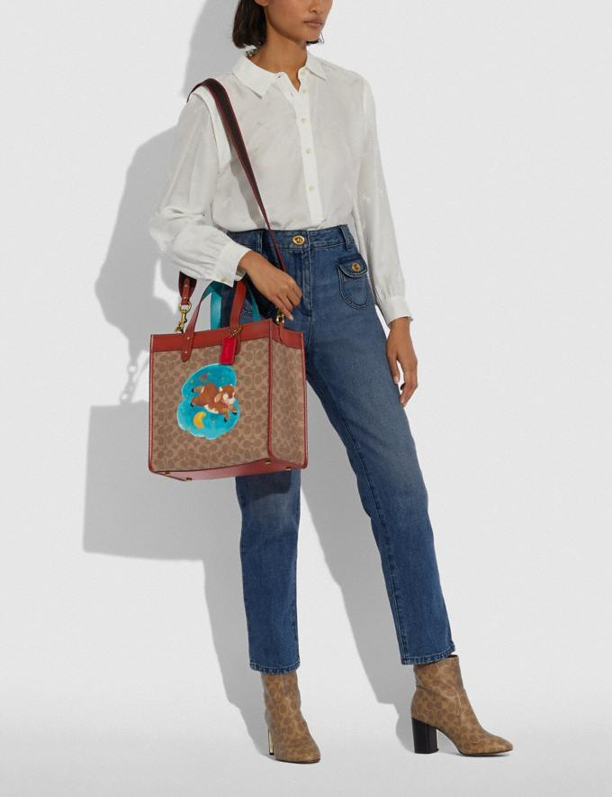 Lunar New Year Field Tote In Signature Canvas With Ox. Image via Coach.