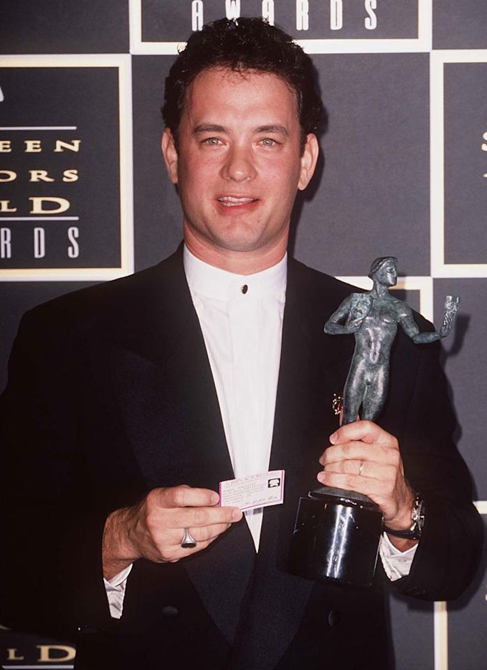 """<strong>1995</strong> – <a href=""""http://movies.yahoo.com/person/tom-hanks/"""">Tom Hanks</a> and Jodie Foster took home the big awards of the night at the first ever Screen Actors Guild Awards on this day. Hanks won for his portrayal of the title character in """"Forest Gump,"""" and Foster won for playing the title character in """"Nell""""."""
