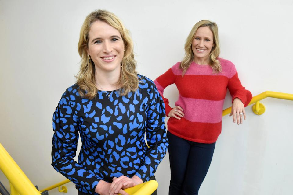 I Can't Say My Name: Stammering in the Spotlight with Felicity Baker and Sophie Raworth. (BBC/Jeff Overs)