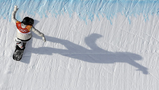 <p>Jan Scherrer, of Switzerland, runs the course during the men's halfpipe qualifying at Phoenix Snow Park at the 2018 Winter Olympics in Pyeongchang, South Korea, Tuesday, Feb. 13, 2018. (AP Photo/Kin Cheung) </p>