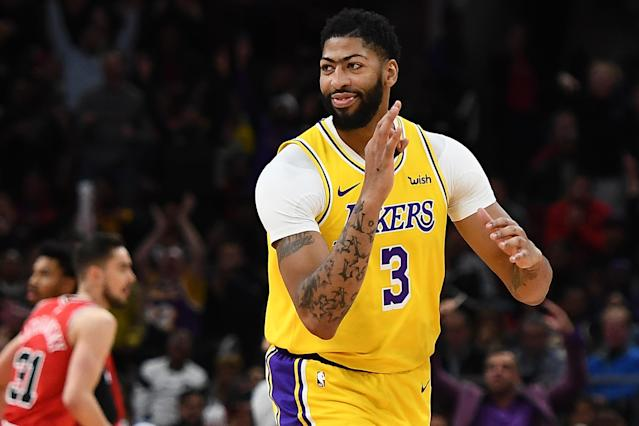 Anthony Davis appears to be an ideal Lakers hero. (Photo by Stacy Revere/Getty Images)