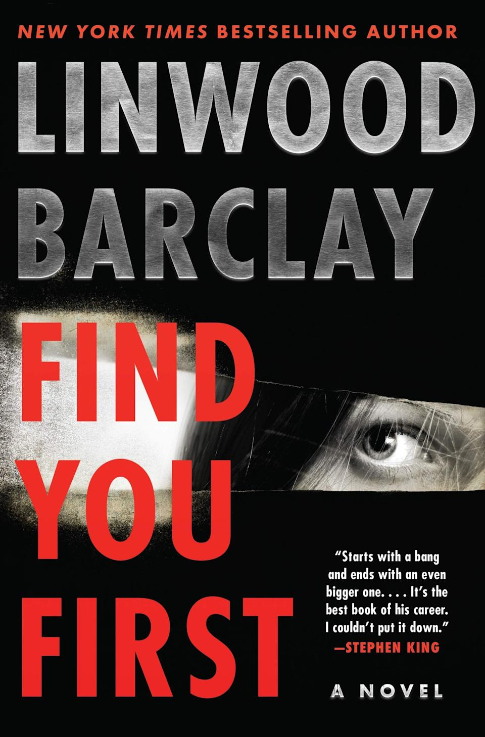 <p><span><strong>Find You First</strong></span> by Linwood Barclay is a chilling story about a man in a race against time to warn his biological children that he may have passed on a terminal disease to them. Two decades before he became a tech millionaire, Miles Cookson donated his sperm to make ends meet, and as a result, he has nine biological children he has never met. When he learns he doesn't have long to live, he decides to track down all nine of his children to warn them he may have passed on the disease and to give them his fortune - but just as he connects with his filmmaker daughter, Chloe, the other children begin disappearing as if they never existed at all. </p> <p><em>Out May 11</em></p>