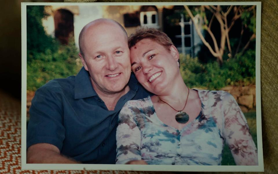 Carol Parson, whose husband Michael died after his cancer treatment was disrupted by the Covid crisis - David Rose