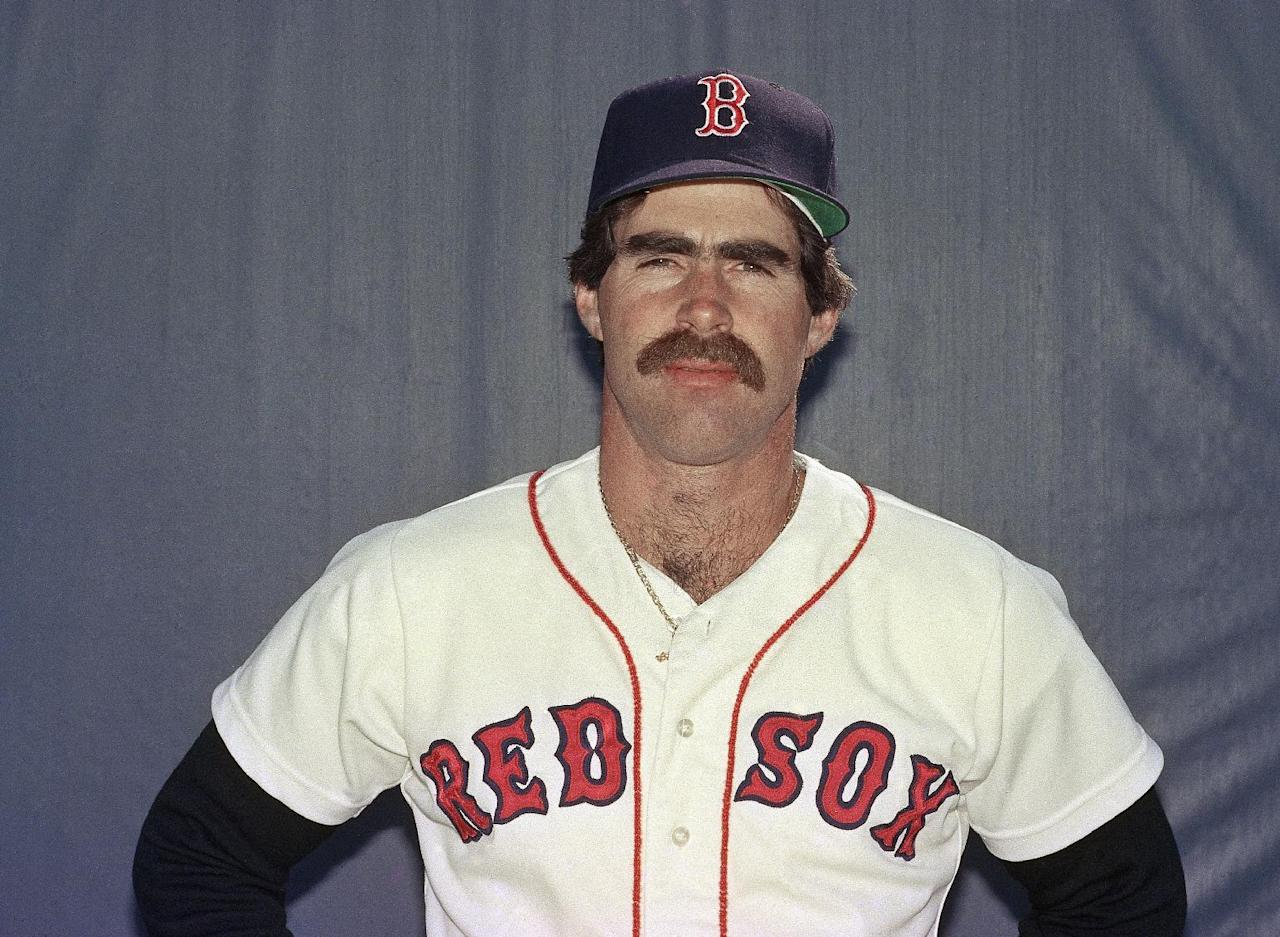 FILE - This March 1986 file photo shows Boston Red Sox first baseman, Bill Buckner. The baseball made famous when it rolled through Buckner's legs in the 1986 World Series is being sold. Heritage Auctions says the ball is expected to bring in more than $100,000 during Friday's, May 4, 2012 auction in Dallas. (AP Photo, File)