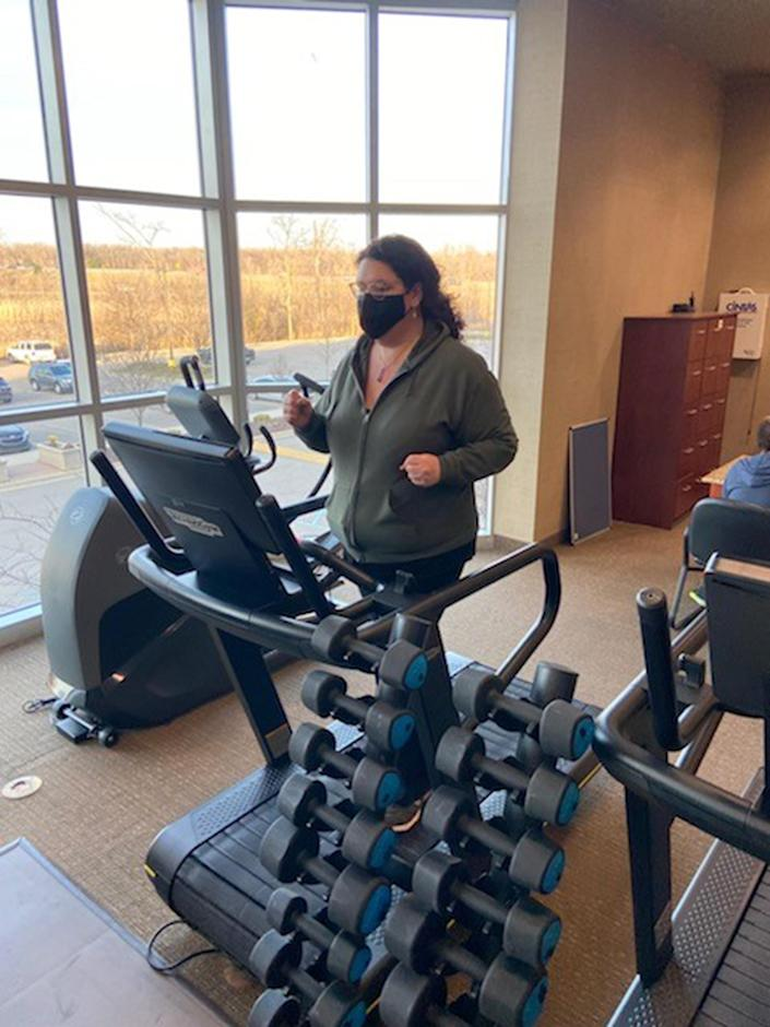 Jacki Roberts felt nervous to exercise until she went to Life Time Fitness. Now she has loads of confidence to lift weights and use an elliptical machine four times a week.  (Courtesy Jacki Roberts)
