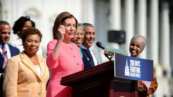 PHOTO: Speaker of the House Nancy Pelosi holds a press event on the first 200 days of the 116th Congress at the Capitol in Washington, D.C., July 25, 2019. (Mary Calvert/Reuters)