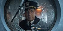 "Tom Hanks kills it again in yet another real-life incident movie, this time during WW2. Several months after the U.S. entry into World War II, an inexperienced U.S. Navy commander leads an Allied convoy being stalked by a German submarine wolf pack. 10/10 for music, 10/10 for acting, 10/10 for the tension created. I would highly recommend you watch this film, which is available on <a href=""https://tv.apple.com/us/movie/greyhound/umc.cmc.o5z5ztufuu3uv8lx7m0jcega"" rel=""nofollow noopener"" target=""_blank"" data-ylk=""slk:Apple TV+"" class=""link rapid-noclick-resp"">Apple TV+</a>"
