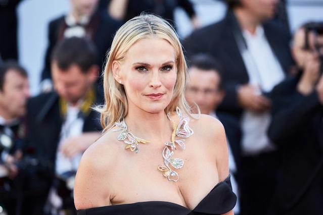 Molly Sims in Cannes, wearing Christian Siriano (Photo: Getty Images)