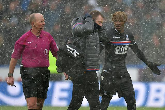 Roy Hodgson allays fears over Wilfried Zaha injury following Huddersfield scare