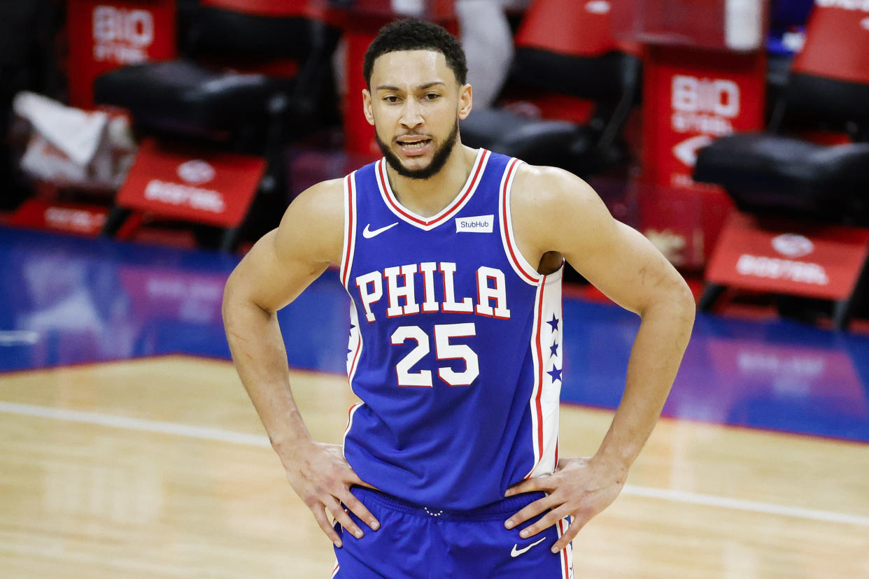 Ben Simmons has not made the Philadelphia 76ers' job any easier. (Tim Nwachukwu/Getty Images)