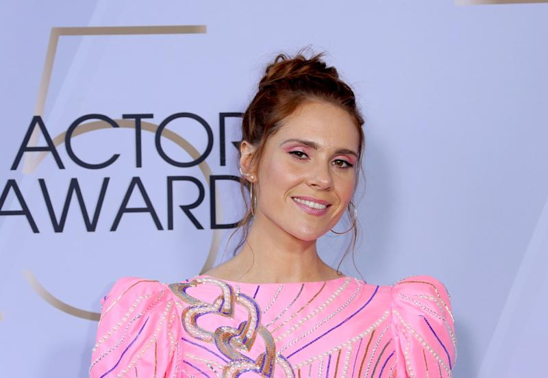 Kate Nash arrives at the 25th annual Screen Actors Guild Awards at the Shrine Auditorium & Expo Hall on Sunday, Jan. 27, 2019, in Los Angeles. (Photo by Willy Sanjuan/Invision/AP)